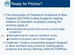 ready for pitches