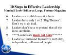 10 steps to effective leadership marshall loeb editor at large fortune magazine1