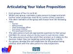 articulating your value proposition1