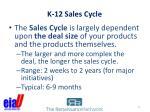 k 12 sales cycle