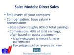 sales models direct sales