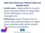 sales team structure hybrid inside and outside team