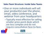 sales team structure inside sales teams