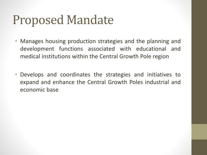 Proposed Mandate