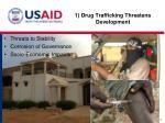 1 drug trafficking threatens development