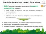 how to implement and support the strategy