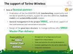 t he support of torino wireless