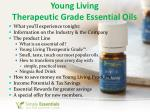 young living therapeutic grade essential oils