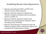 establishing baseline safety requirements