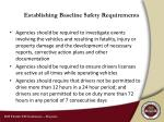 establishing baseline safety requirements1