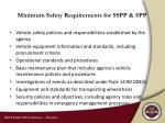 minimum safety requirements for sspp spp