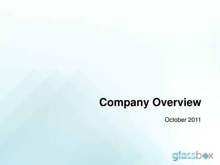 company overview october 2011 n.