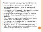 principles of organization design