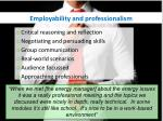 employability and professionalism1