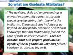 so what are graduate attributes