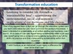 transformative education