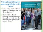 universities and the green economy graduates for the future