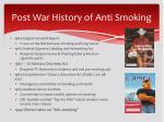 post war history of anti smoking