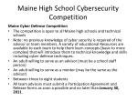 maine high school cybersecurity competition