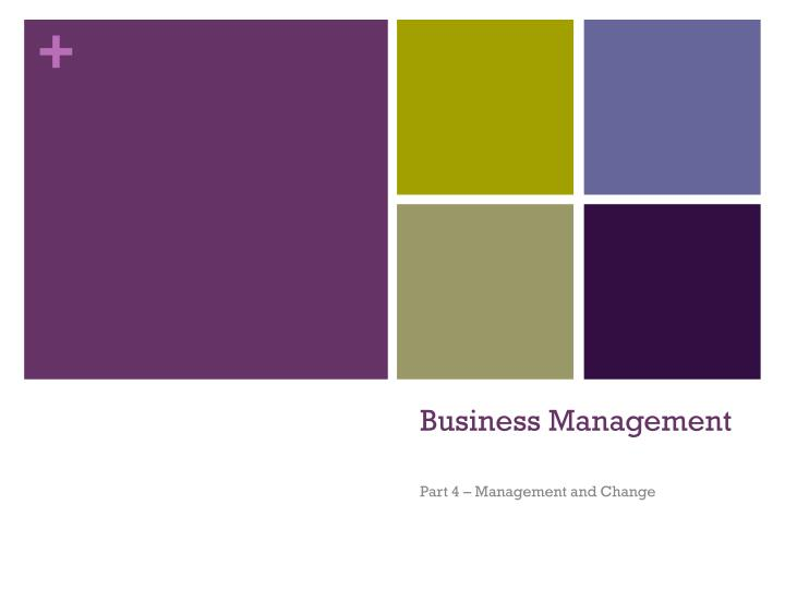business management n.