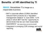 benefits of hr identified by ti1
