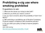 prohibiting e cig use where smoking prohibited