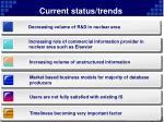 current status trends