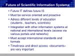 future of scientific information systems