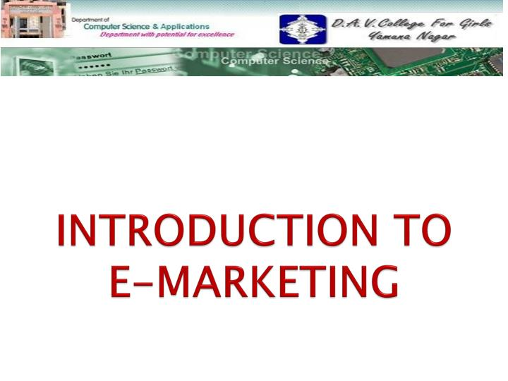 introduction to e marketing n.