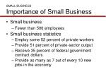 small business importance of small business