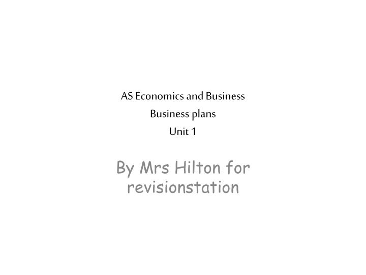as economics and business business plans unit 1 n.