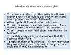 why does a business write a business plan