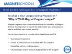 what are the selling points of magnet programs3