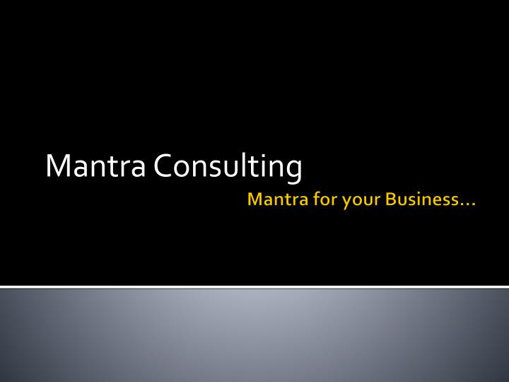 mantra consulting n.