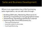 sales and business development