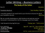 letter writing business letters1