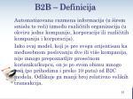 b2 b definicija