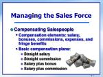 managing the sales force1