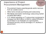 importance of project procurement management