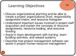 learning objectives10