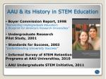 aau its history in stem education
