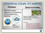 incentives goals 3 and 4