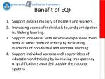 benefit of eqf
