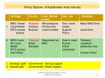 policy options of kazakhstan auto industry