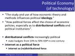 political economy of technology