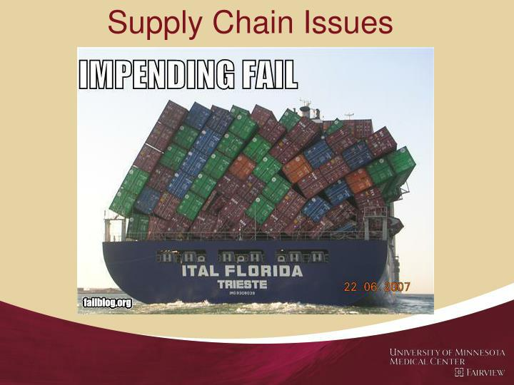 Supply Chain Issues