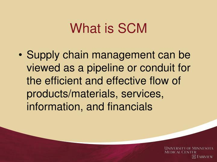 What is SCM