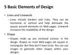 5 basic elements of design