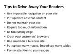 tips to drive away your readers