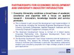 partnerships for economic development and university industry interaction1